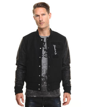 Heavy Coats - Apus Varsity Jacket w Leather Sleeve