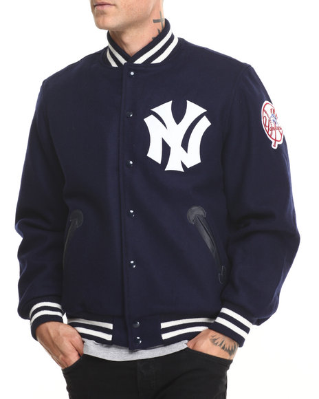 Mitchell & Ness - Men Navy Authentic 1961 New York Yankees Varsity Jacket