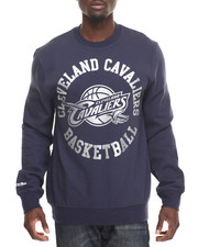 Mitchell & Ness - Cleveland Cavaliers Silver Metallic Crew Sweatshirt (Tailored Fit)