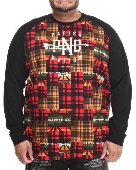 Parish - Men Black Graphic L/S T-Shirt (B&T)