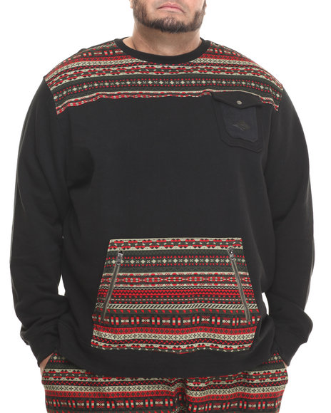 Parish - Men Black Fairisle Sweatshirt (B&T) - $70.99