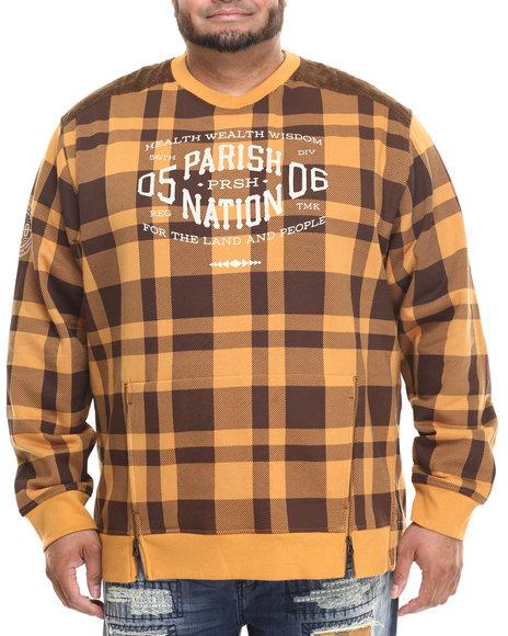 Parish - Men Brown Graphic Sweatshirt (B&T)