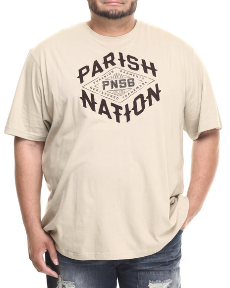 Parish - Men Beige Graphic T-Shirt (B&T) - $33.99