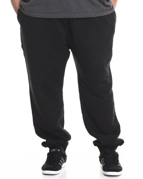 Parish - Men Black Quilted Sweatpant (B&T)