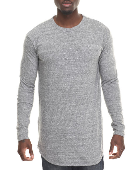 Eptm. - Men Grey Side Zip L/S Long Tee