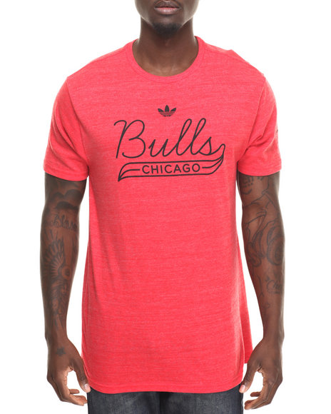 Adidas Men Chicago Bulls Retro Fit SS Tee Red Large