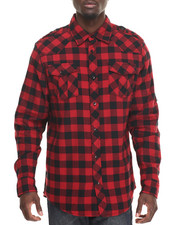 Button-downs - Woven Terry Buffalo Check Shirt