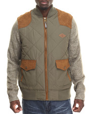 Parish - Quilted Jacket w/ Sweater Sleeve