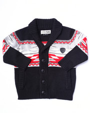 Sizes 2T-4T - Toddler - AZTEC INTARSIA SHAWL CARDIGAN (2T-4T)