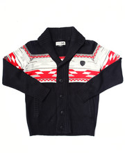 Black Friday Shop - Boys - AZTEC INTARSIA SHAWL CARDIGAN (8-20)