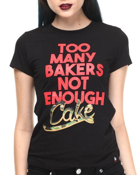 Cupcake Mafia - Women Black Too Many Bakers T-Shirt