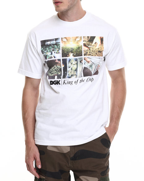 Dgk - Men White King Of The Crop Tee - $13.99
