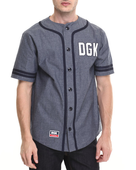 Dgk - Men Indigo,Navy From Nothing Baseball Jersey