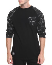 Men - Blacktop Custom 3/4 Sleeve Knit Tee