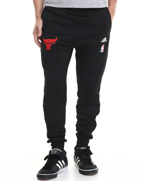 Adidas Men Chicago Bulls OnCourt WarmUp Jogger Pants Black XLarge