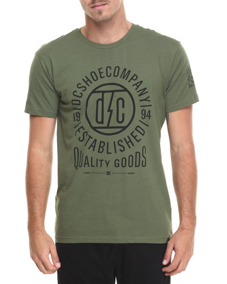 Dc Shoes Men Bolt Domain Ss Tee Olive Large