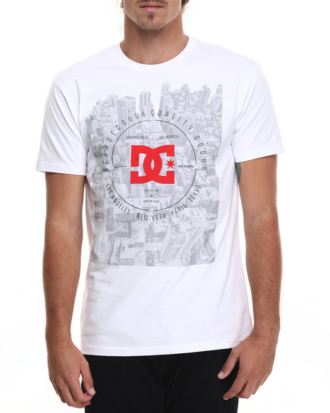 Dc Shoes - Men White New Scape Ss Tee