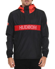 Hudson NYC - H D S N 1/4 Zip Pullover Hooded Jacket