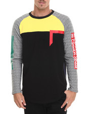 Men - Color Tape L/S Scallop - Back Tee
