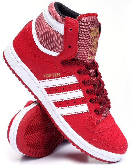 Adidas - Men Red Top Ten Hi Varsity Pack Sneakers (Unisex)
