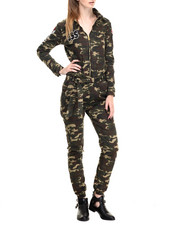 Women - Rich Girl Camo Jumpsuit