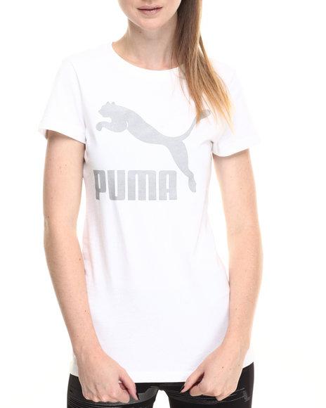 Puma - Women Silver,White Reflective Logo Tee