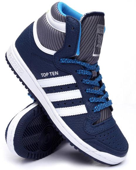 Adidas Men Top Ten Hi Varsity Pack Sneakers (Unisex) Navy M5.5  W7.5