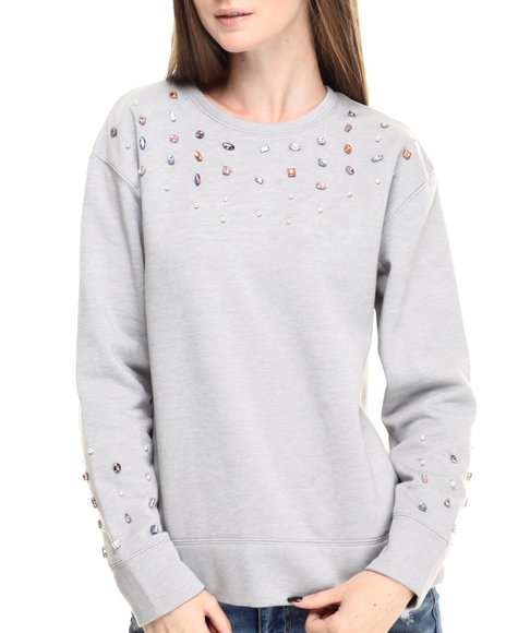 Eric + Lani - Women Grey Fleece Sweatshirt