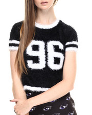 Women - Fuzzy Knit Sweater