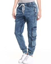 Women - CM Acid Wash Denim Pants