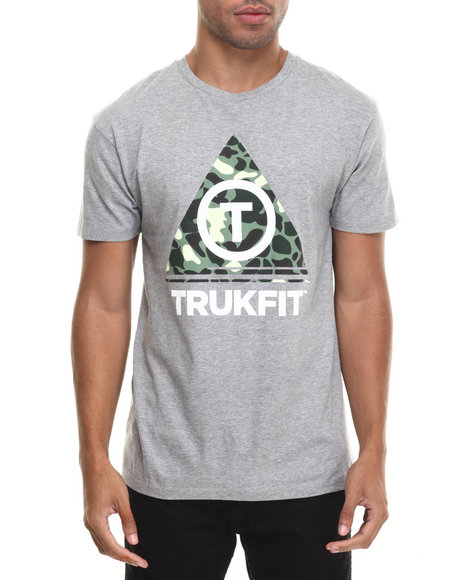 Trukfit - Men Grey Camo Triangle T-Shirt
