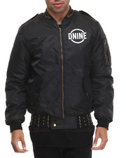 Outerwear - STUDDED XOVER LUXURY BOMBER