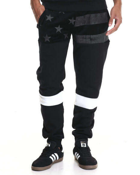 Trukfit - Men Black Black Flag Sweatpant
