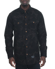 Buyers Picks - Tactical Camo Flannel L/S Button-down
