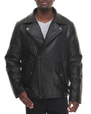 Cyber Monday Shop - Men - Asymmetrical - Zip Quilted - Shoulder Faux Leather Jacket