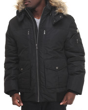 Cyber Monday Shop - Men - S J Signature Snorkel Coat W/ Faux - Fur - Lined Hood