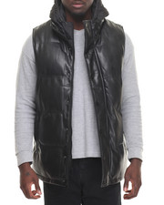 Cyber Monday Shop - Men - Quilted Faux Leather Vest