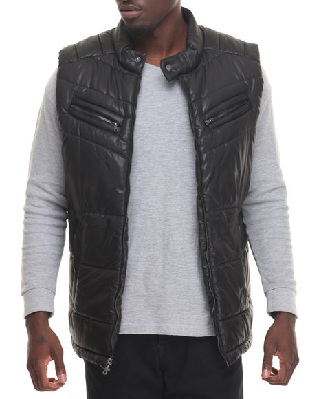 Sean John - Men Black Two - Pocket Quilted Vest