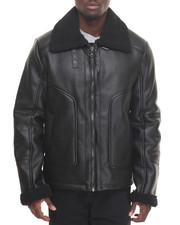 Sean John - Shearling - Style Faux Leather Coat