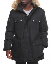 Sean John - 4 - Pocket Snorkel Coat W/ Faux - Fur Lined Hood