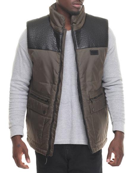 Sean John Men Faux Leather Black Large