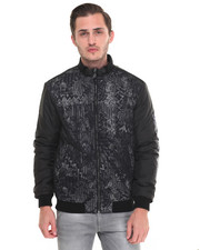 Versace Jeans - Mesh Overlay Moto Jacket