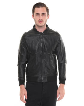 Jackets & Coats - Leather Embossed Flight Massiv. Bomber