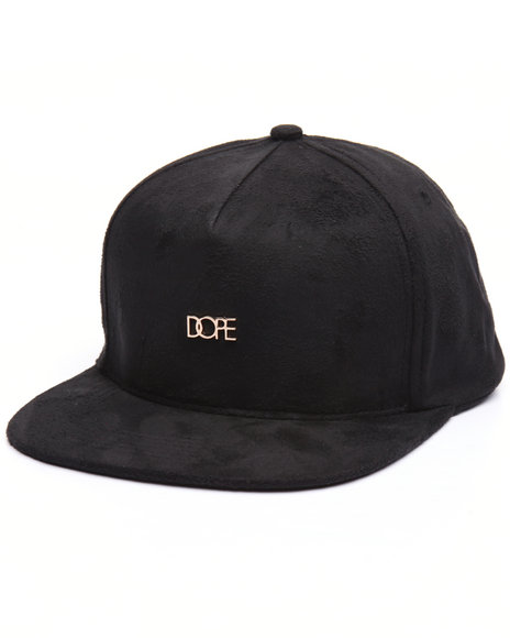 Dope Men Micro Metal Logo Snapback Black