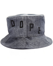 Men - Bleached Denim Bucket Hat
