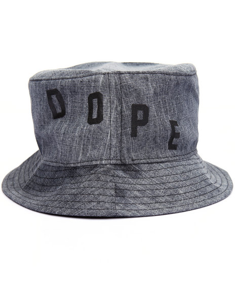 Dope - Men Black Bleached Denim Bucket Hat