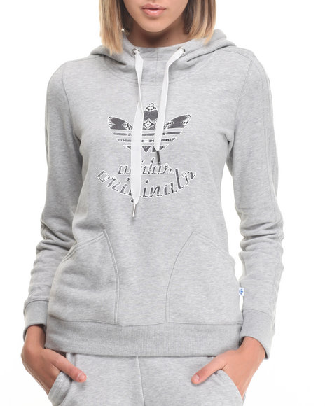 Adidas - Women Grey La Slim Hoody