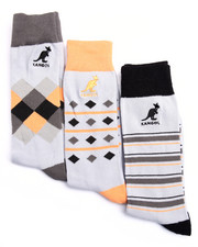 Men - Colorblock Arguile 3Pk Dress Casual Socks