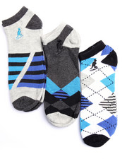 Men - Arguile Way 3Pk No Show Socks