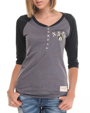 Black Friday Shop - Women - Brooklyn Nets 3/4 Sleeve Henley
